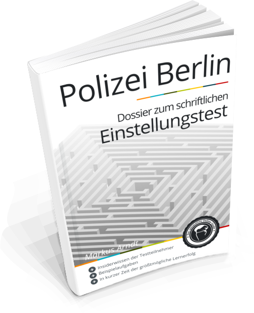 Polizei Berlin: Buch zum schriftlichen Einstellungstest